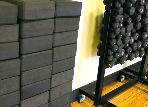 Core Power Yoga in La Jolla and the power sculpt yoga with weights class