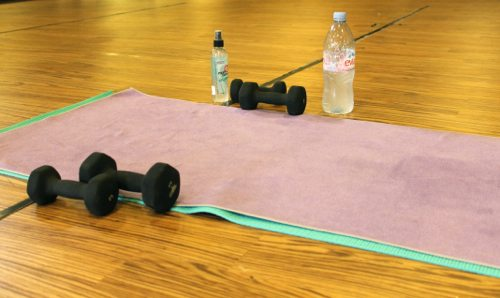 Core Power Yoga in La Jolla and the yoga sculpt class with weights