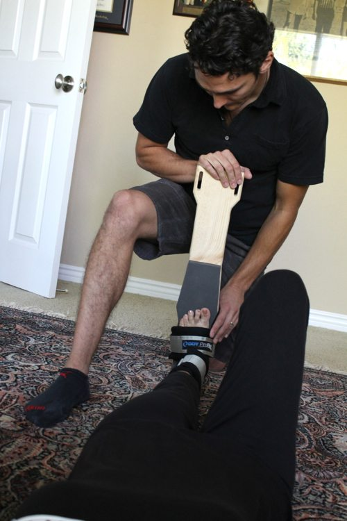 Lauryn Evarts and Nic Barolotta explain resistance stretching and physical therapy.