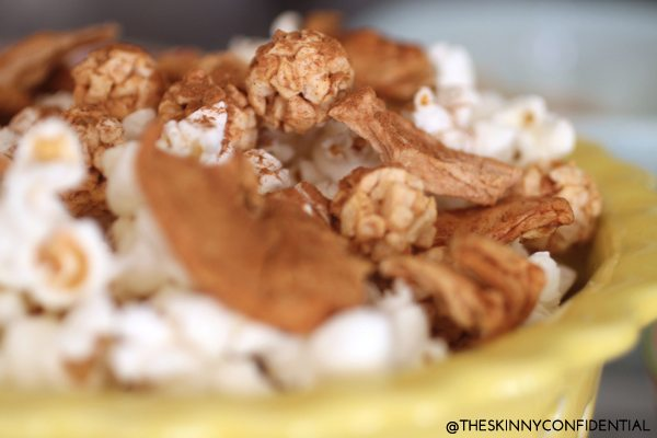 The Skinny Confidential shares an apple popcorn recipe.