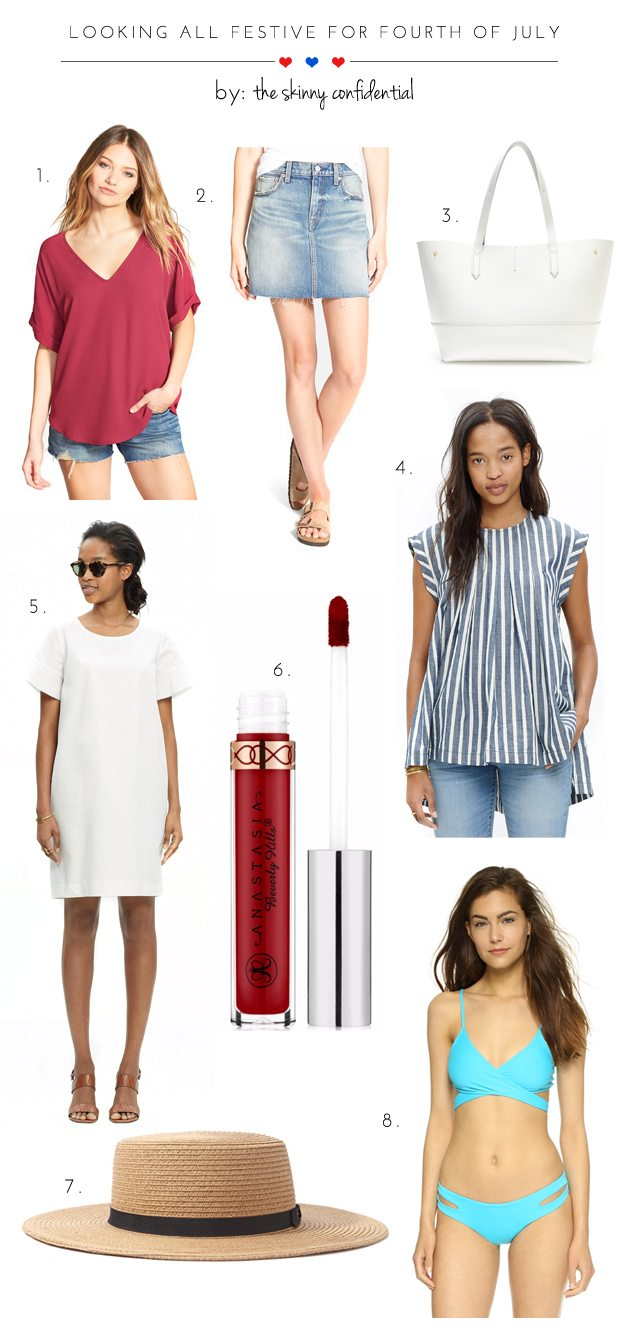 The Skinny Confidential talks 4th of July fashion.