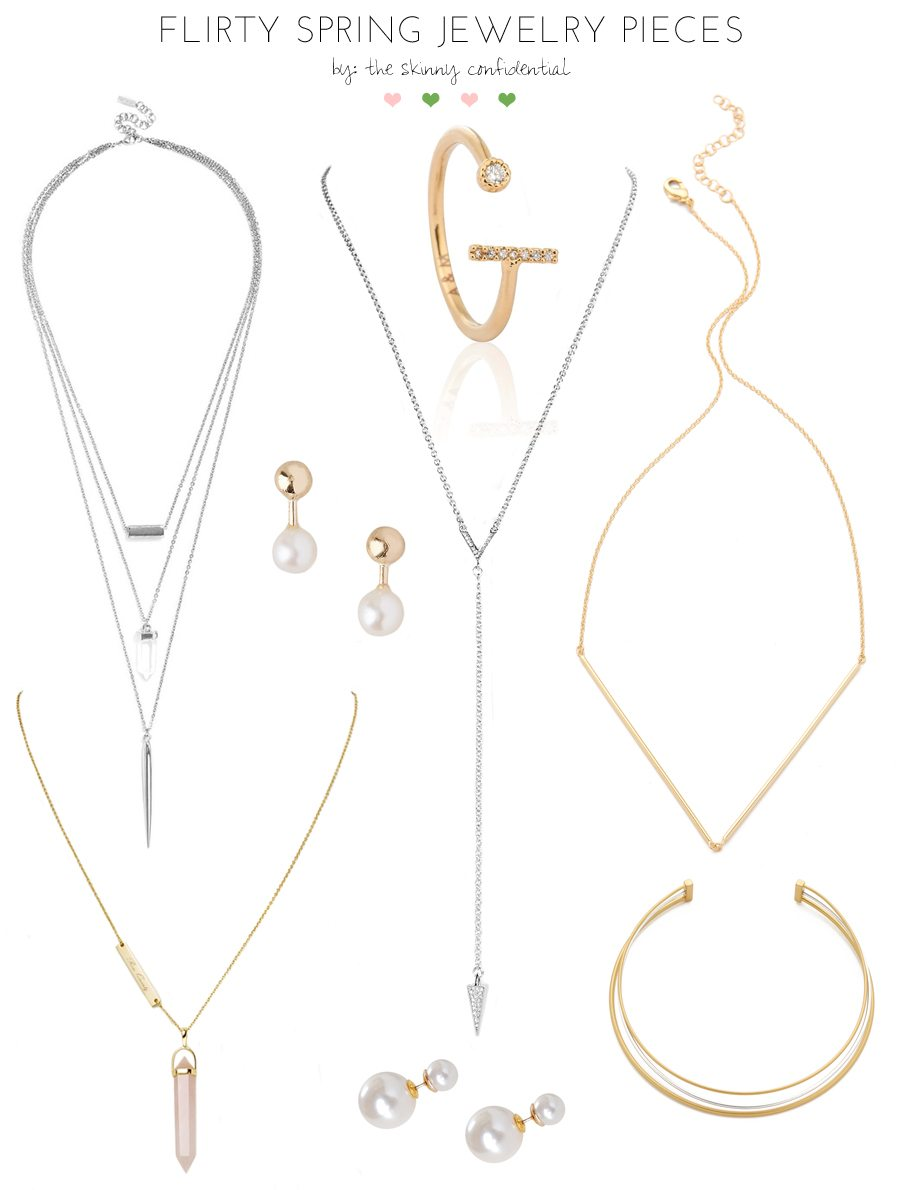 flirty spring jewelry pieces | by the skinny confidential