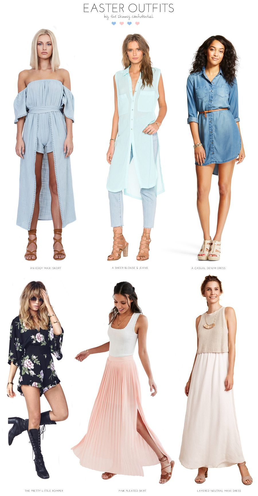 easter outfit ideas   by the skinny confidential
