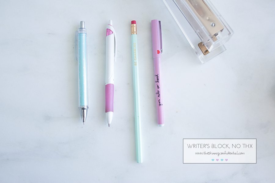 writer's block | by the skinny confidential