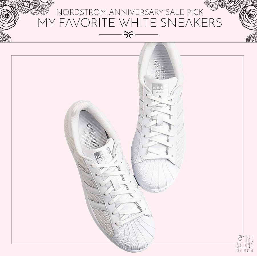 Nordstrom Anniversary Sale Pick My Favorite White Sneakers | by the skinny confidential