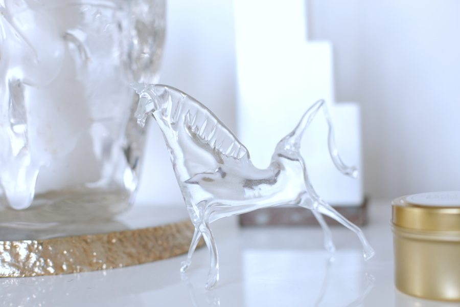 mini delites glass horse   by the skinny confidential
