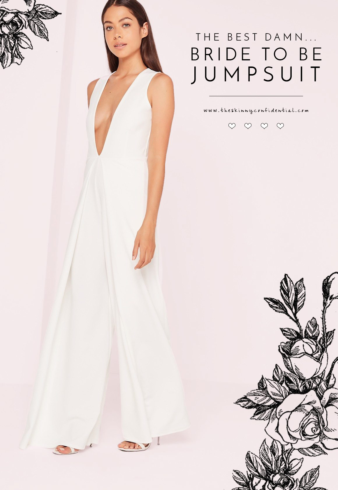 the best damn bride to be jumpsuit | by the skinny confidential