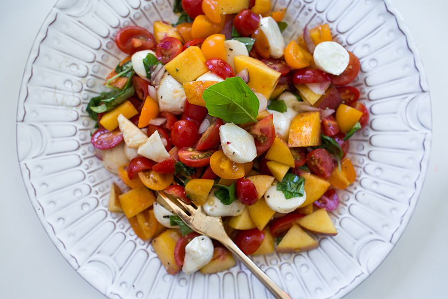 summer peach salad 11 | by the skinny confidential