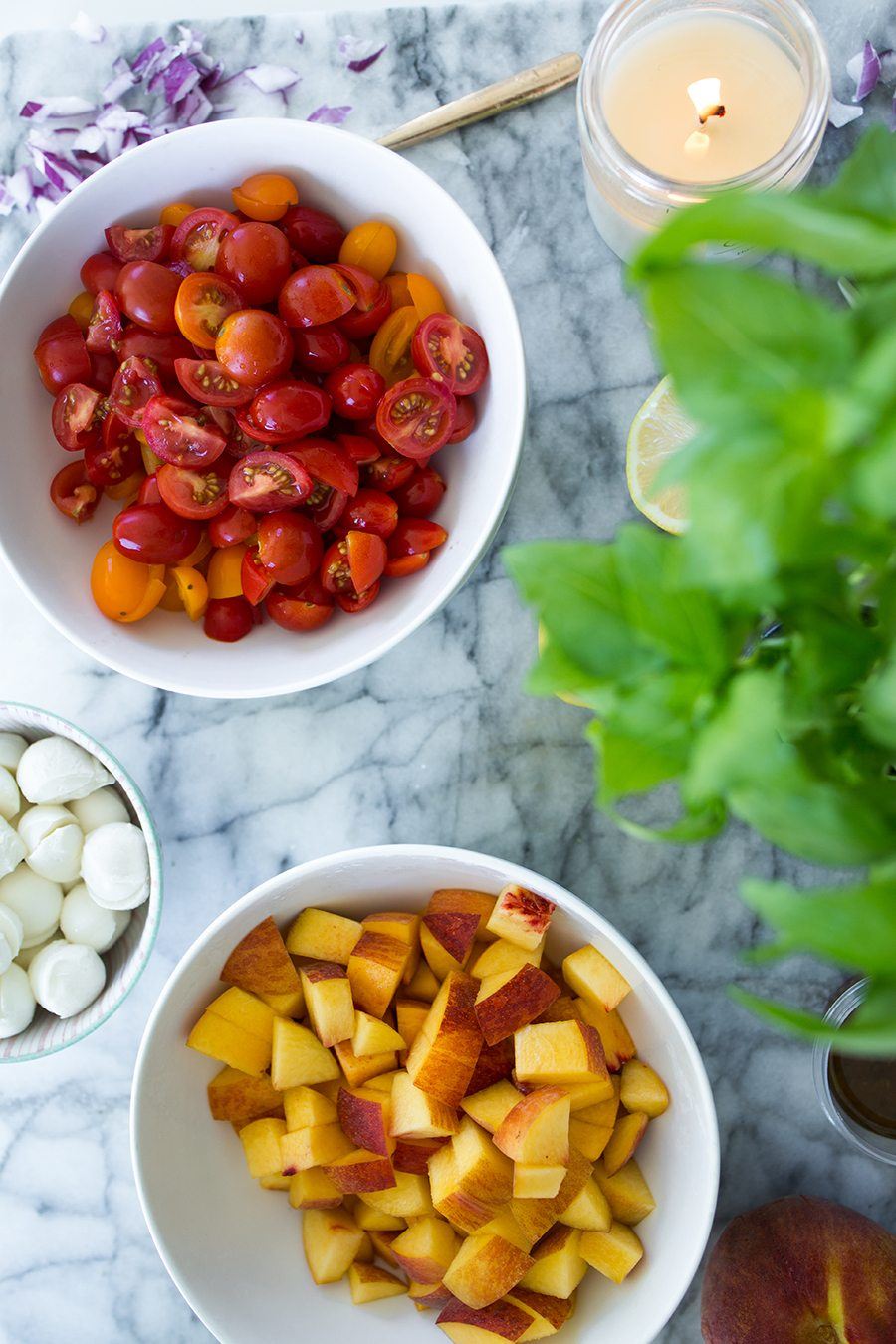 summer peach salad 5 | by the skinny confidential
