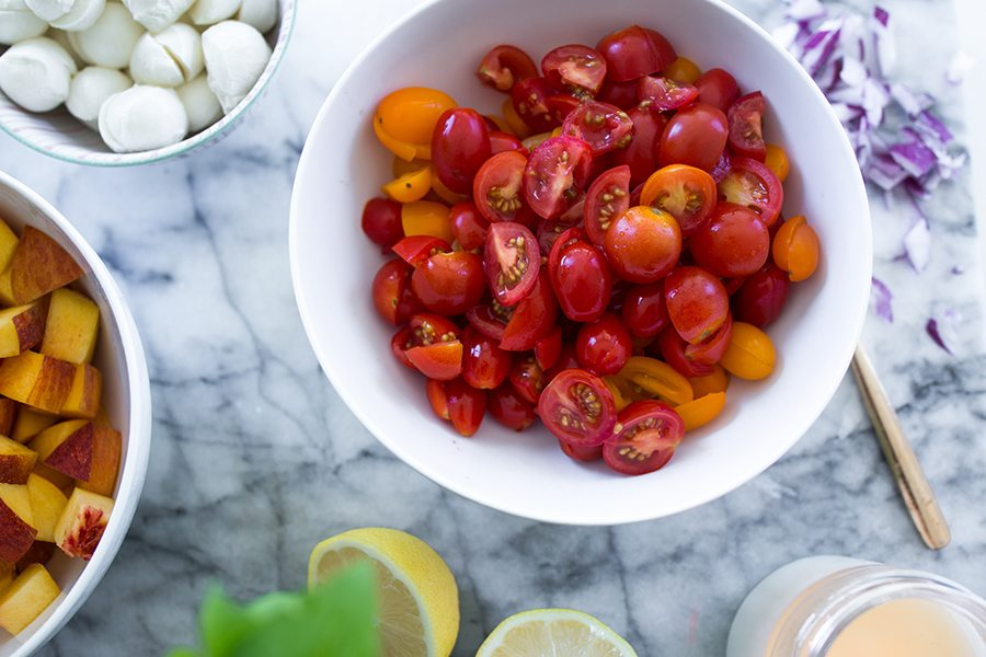 summer peach salad 6 | by the skinny confidential