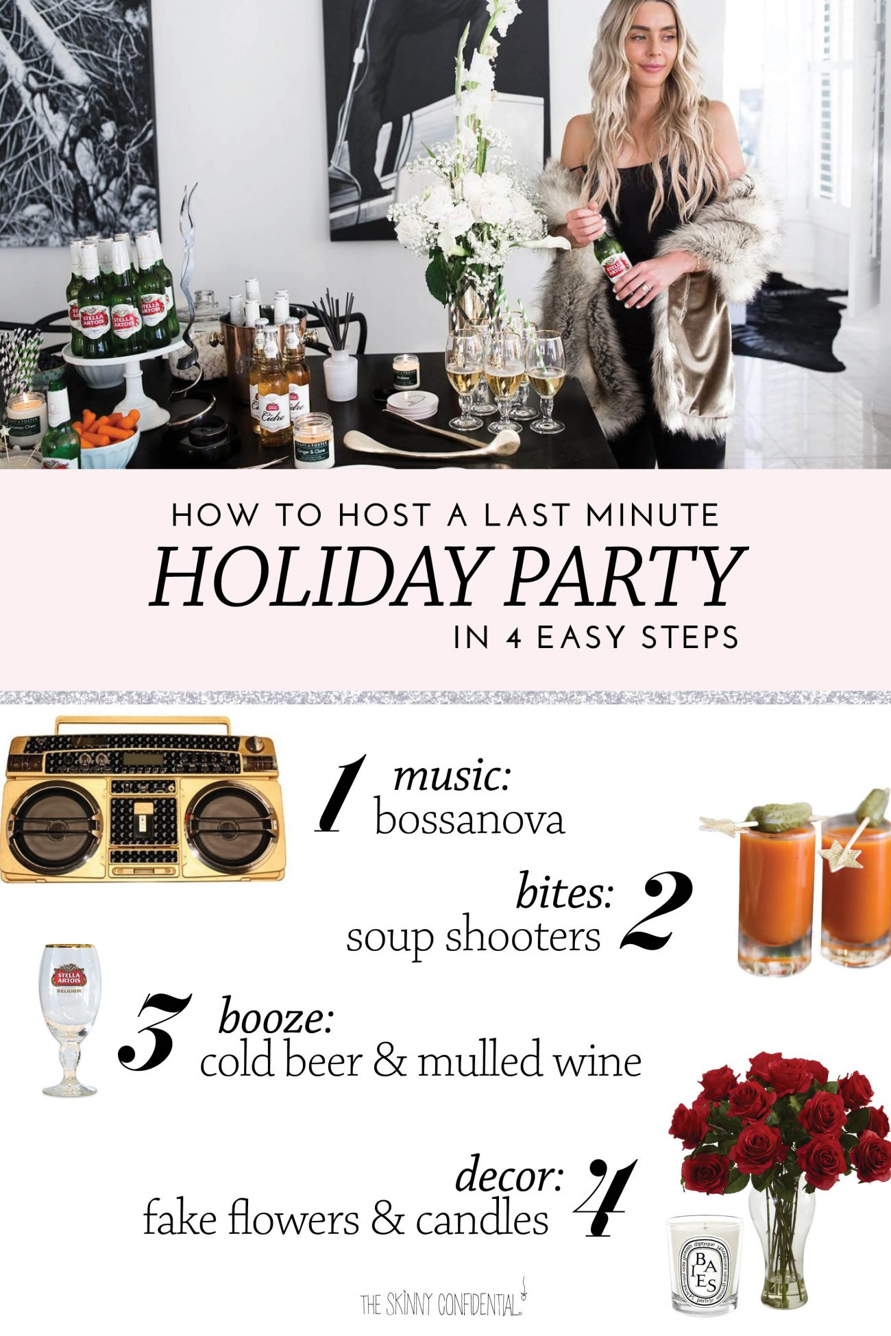 how to host a party by the skinny confidential