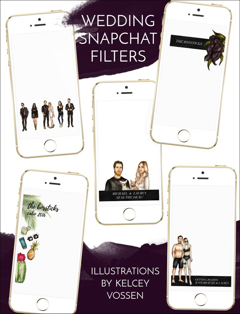 wedding snapchat filters | by the skinny confidential