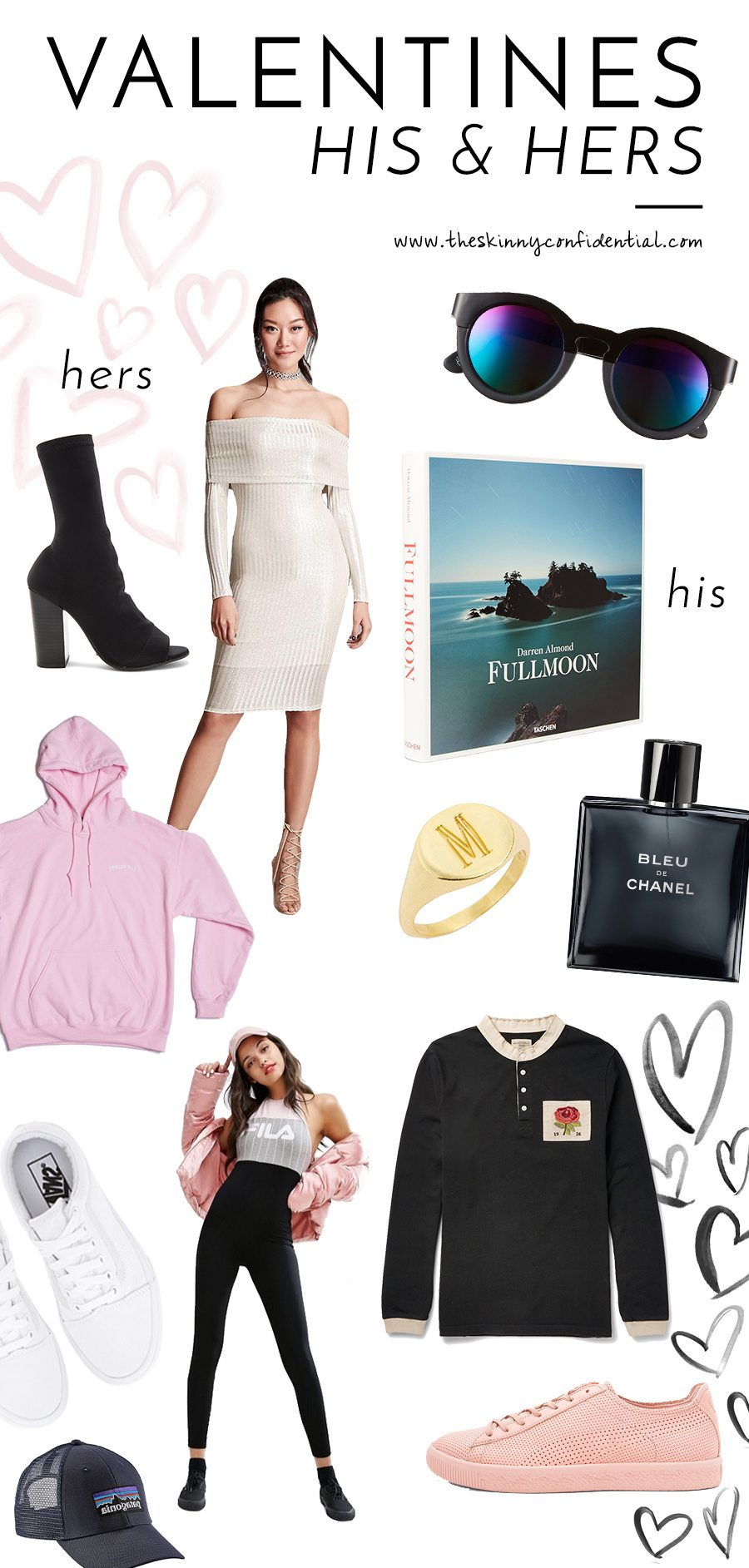 valentine's day collage his & hers | by the skinny confidential