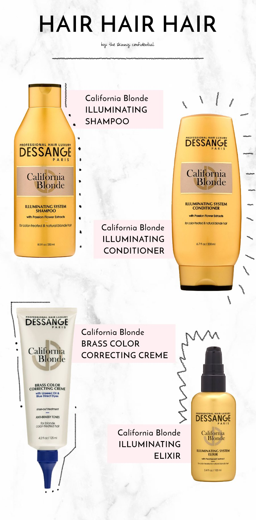dessange collage | by the skinny confidential
