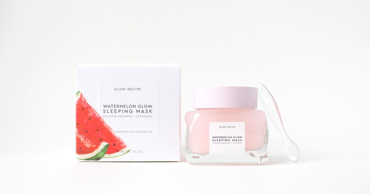 glow recipe watermelon sleep mask | by the skinny confidential
