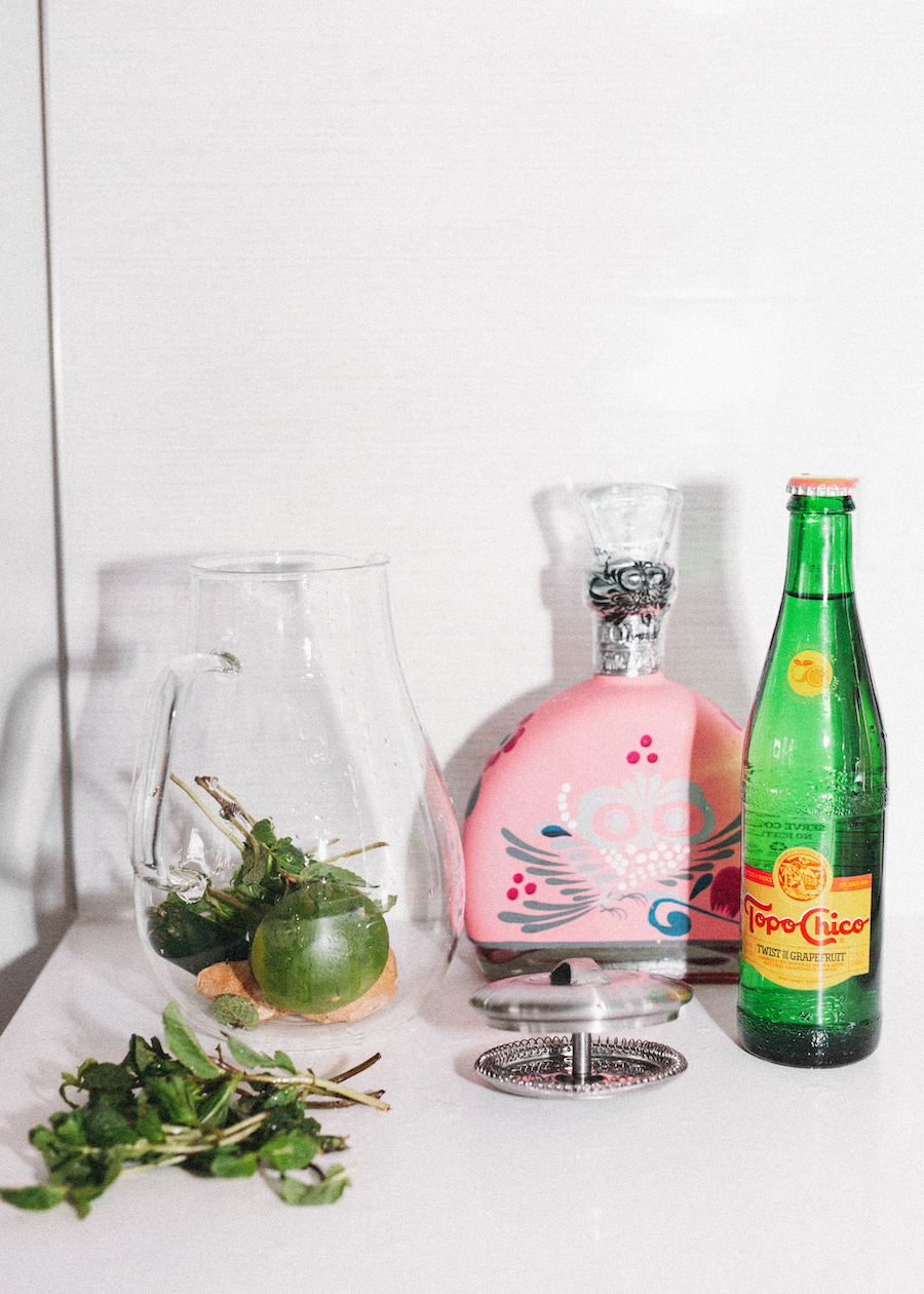 glass water pitcher for fruit enhanced flat and sparkling water beverages and recipes | by the skinny confidential